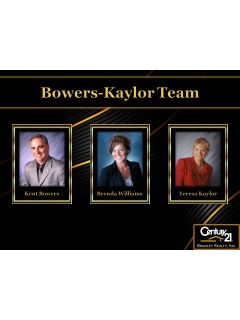 Bowers - Kaylor Team of CENTURY 21 Bradley Realty, Inc.